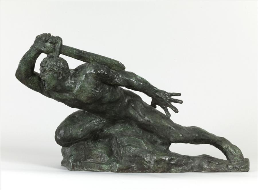 Bourdelle le guerrier allongé