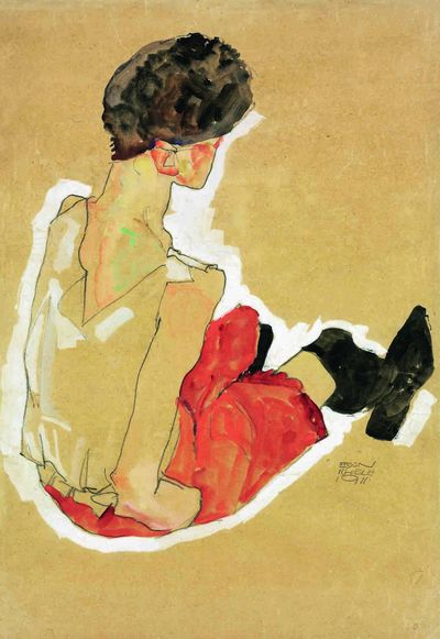 Egon Schiele 1911 Pencil