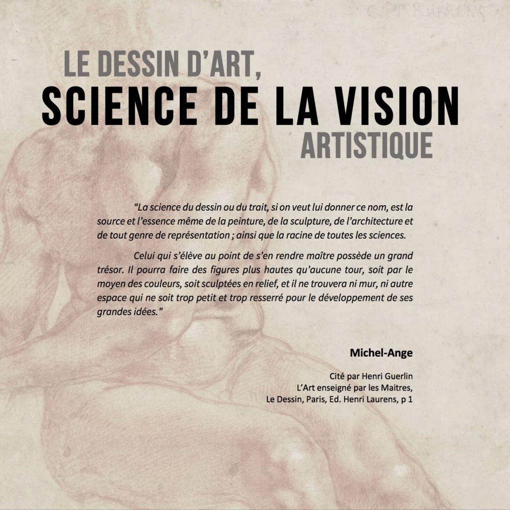 Le dessin d'art,science de la vision artistique